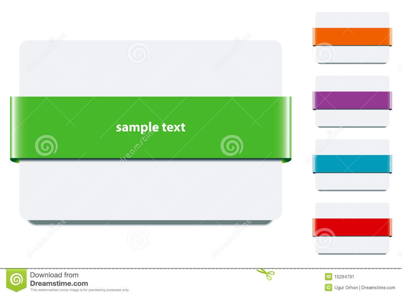 Banner Ribbon Colors