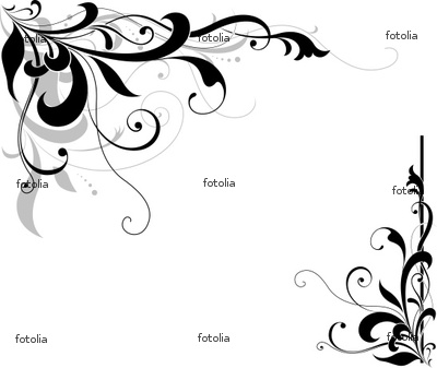 18 pretty corner designs images black and white floral