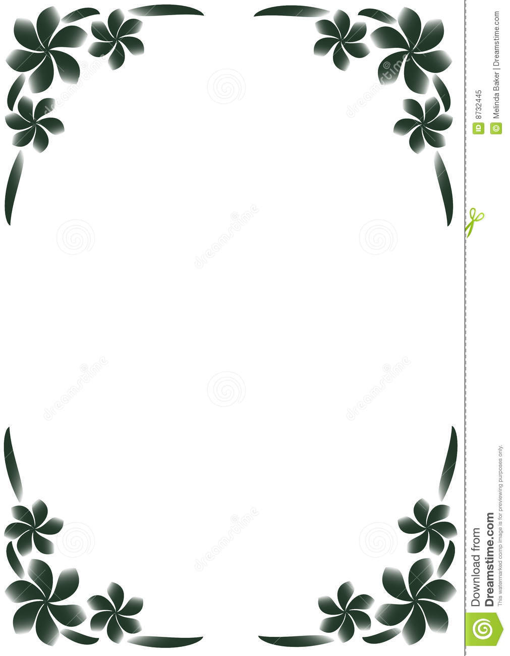 18 Black And White Flower Border Designs Images - Black ...