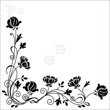Beautiful Simple Vector Vintage Line Border Frame Stock