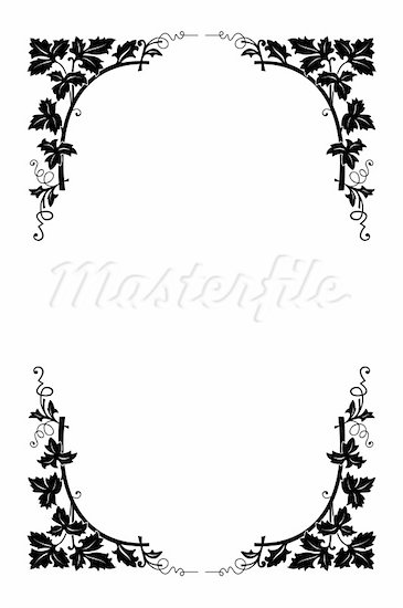 18 Black And White Flower Border Designs Images
