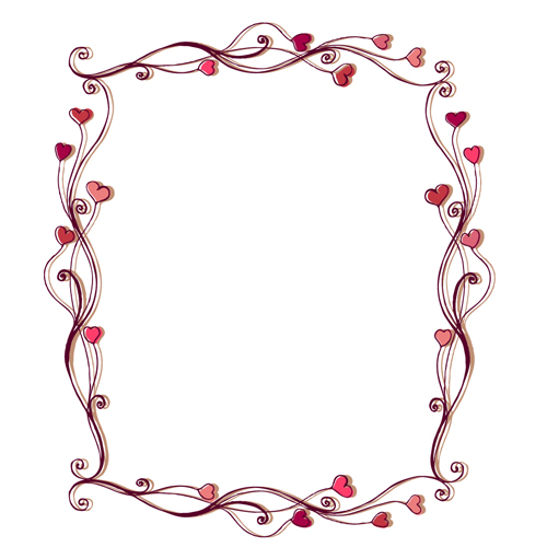 15 Free Vector Heart Frame Images