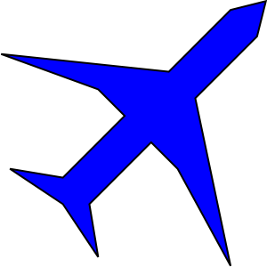 Blue Airplane Clip Art