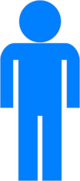 Blue Man Clip Art