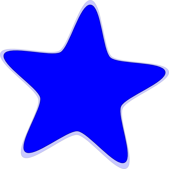 Blue Star Cartoon Clip Art