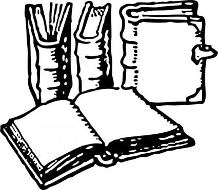 Book Clip Art Black and White