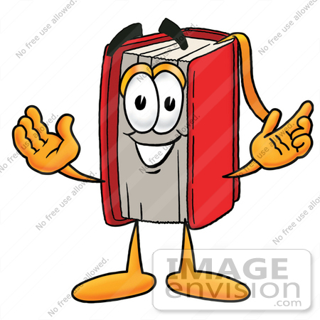 Cartoon Book Character Clip Art