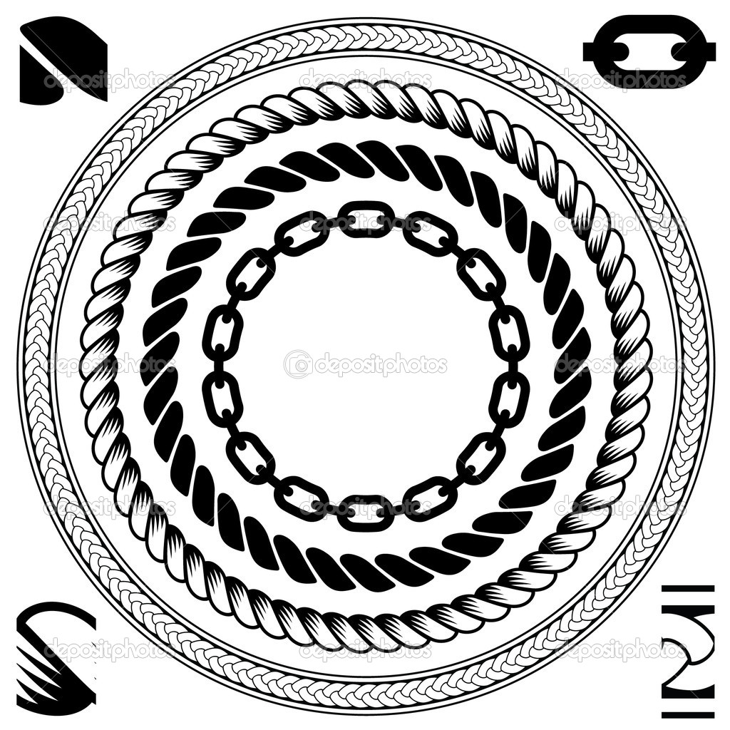 10 Rope Circle Vector Images Clip Art Border Art And Chain