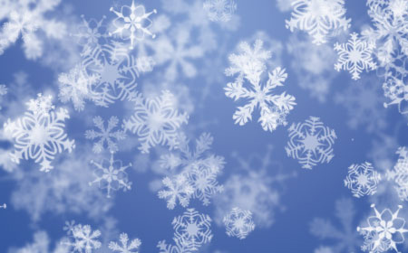 10 PSD Real Snow Flakes Images