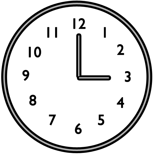 12 Clock Png Icon Sizes Images