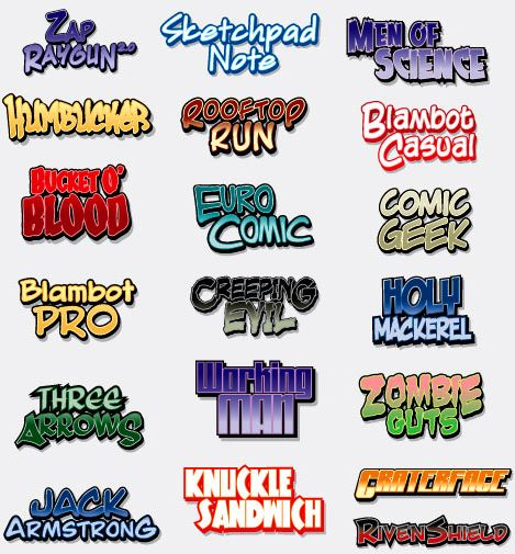 14 Comic Book Title Font Images