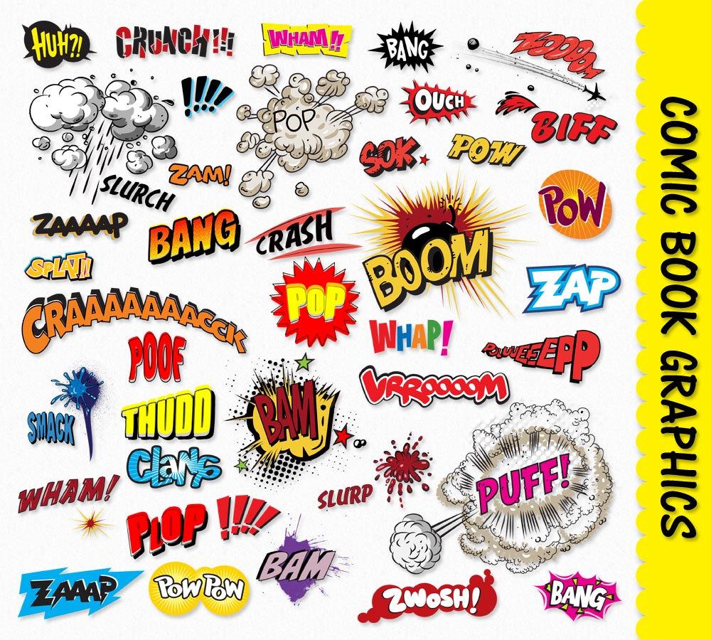 Comic Book Sound Effect Clip Art