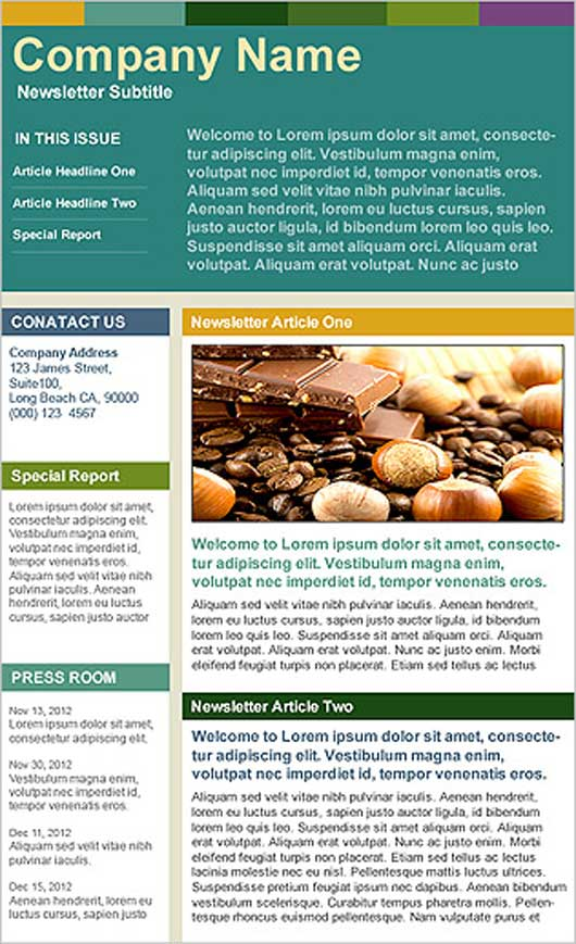 Company Newsletter Templates Free