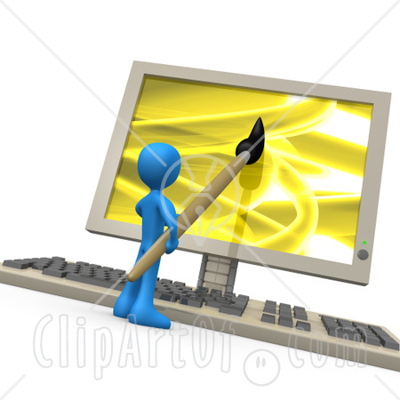 Computer Web Design Clip Art