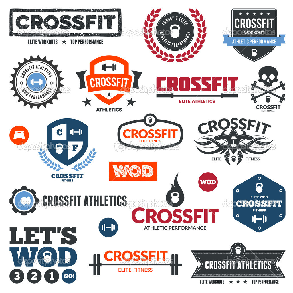 12 CrossFit Vector Art Images