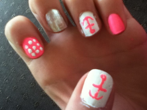 Cute Easy Nail Designs Pink
