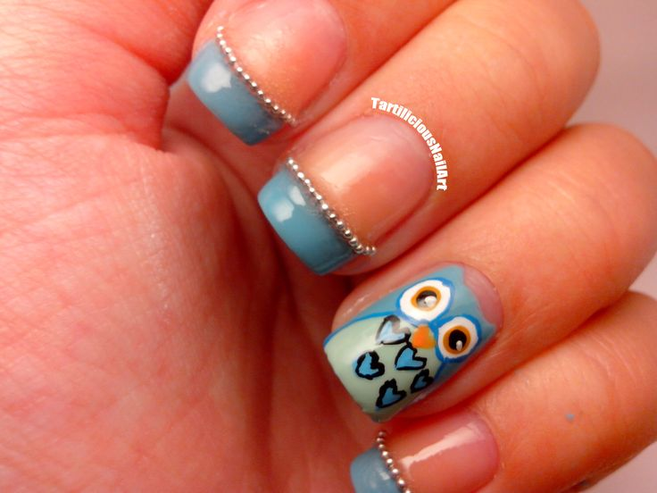 13 Owl Nail Designs Images
