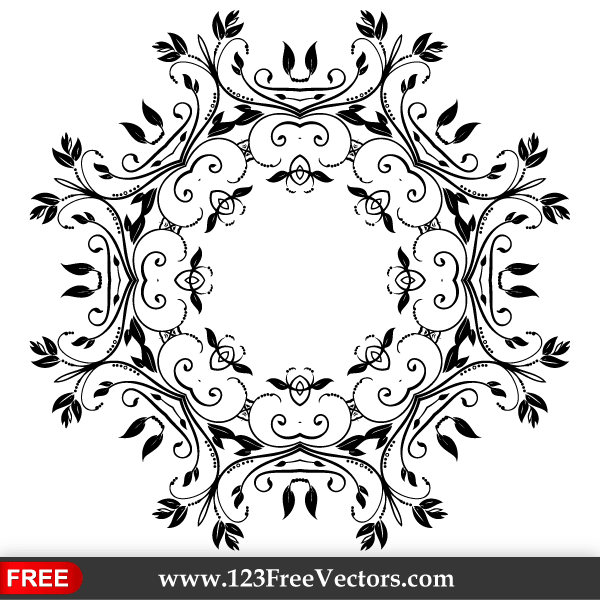 Decorative Floral Elements Vector Free