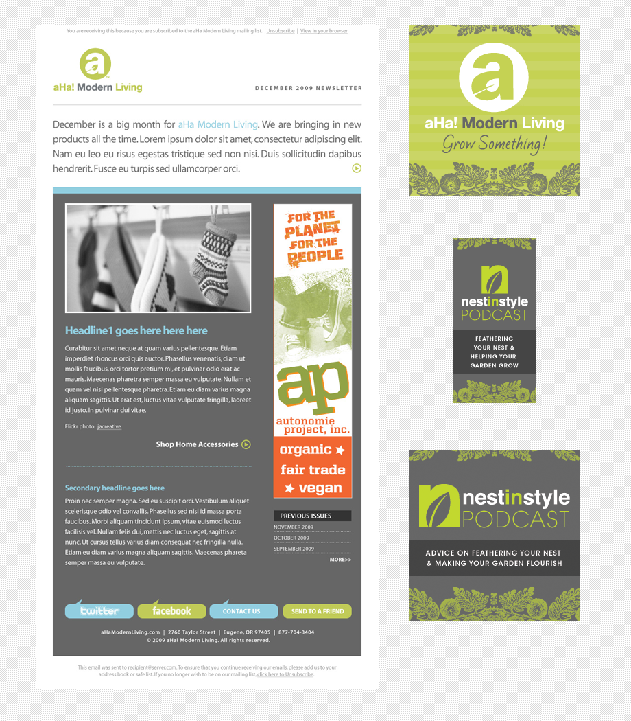 Email Newsletter Banner Design