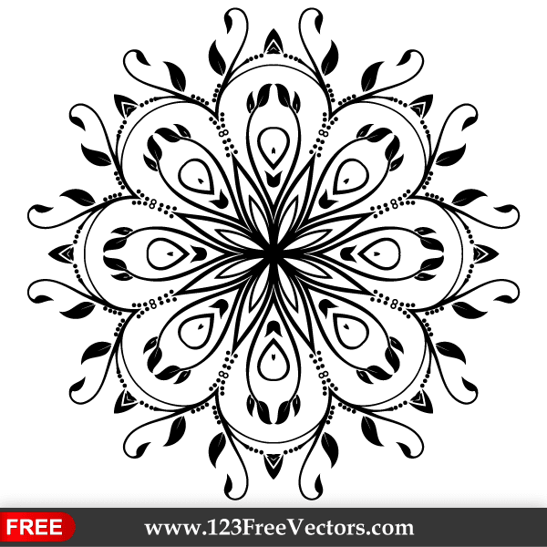 18 Single Floral Vector Design Elements Images