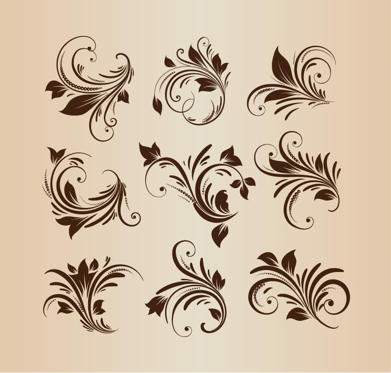 Floral Vector Design Elements