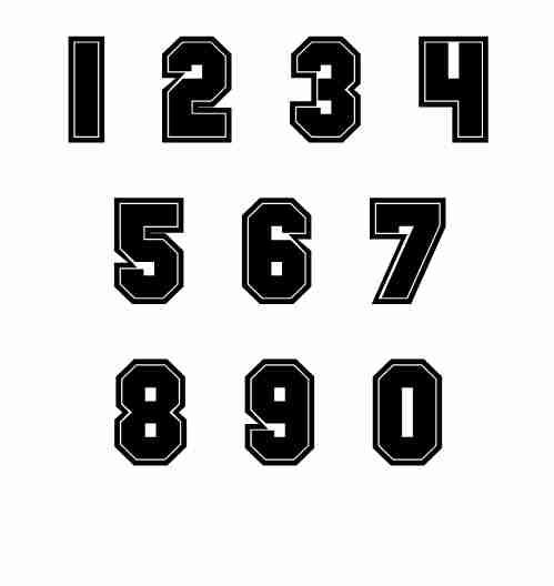 7 Jersey Number Font Images