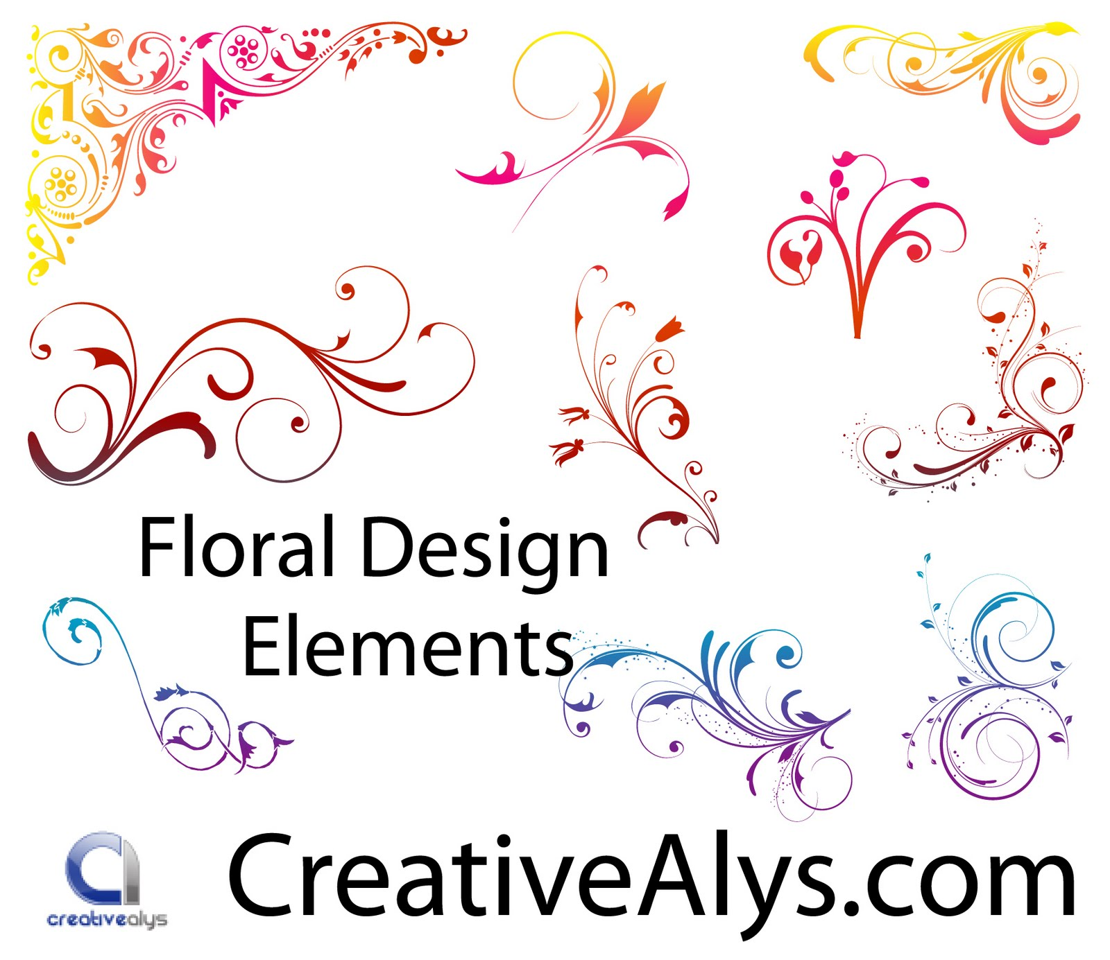 Free Floral Vector Design Elements