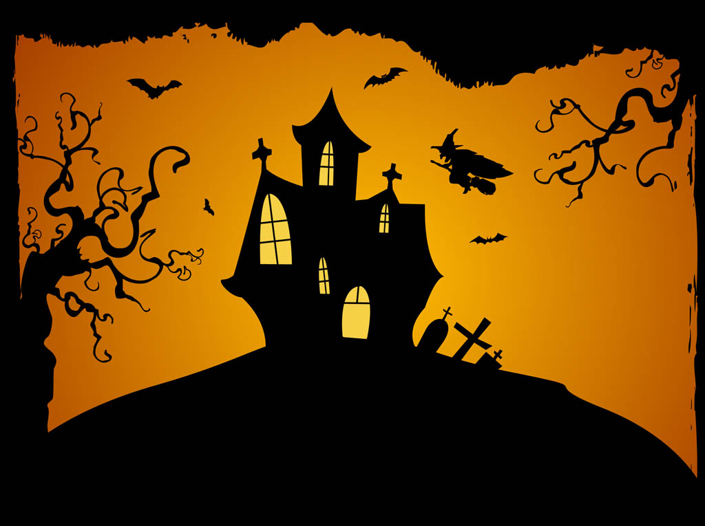 19 Free Halloween Vector Background Images