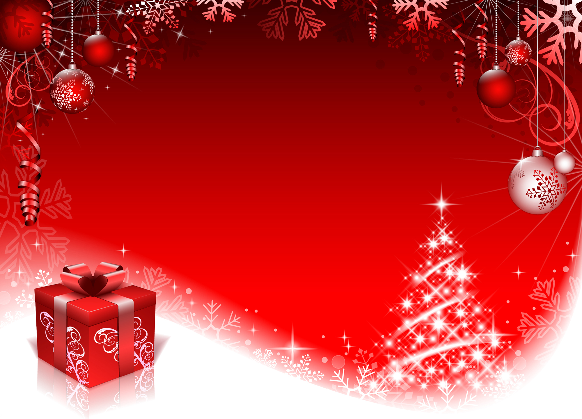 16 free psd christmas templates for photoshop images free red