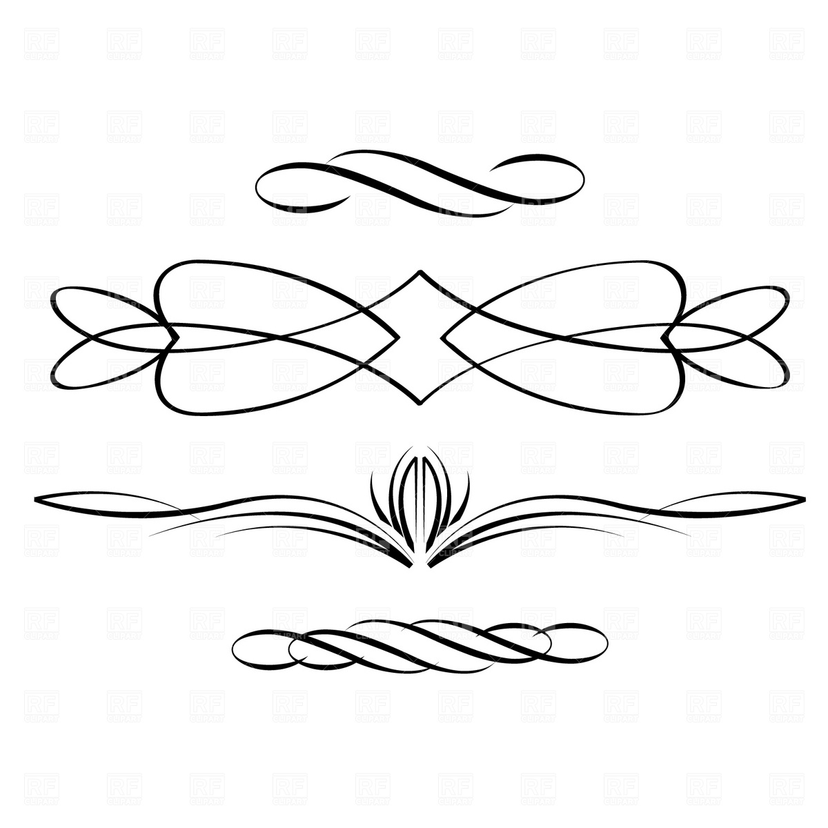17 Scroll Clip Art Vector Images