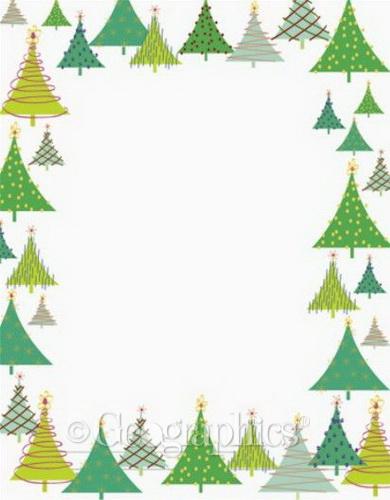 Free Word Christmas Borders
