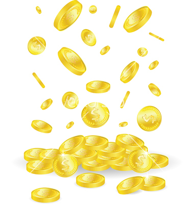 14 free vector gold coins images vector gold coin