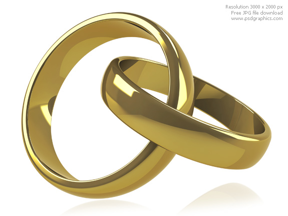 11 PSD Gold Wedding Rings Images