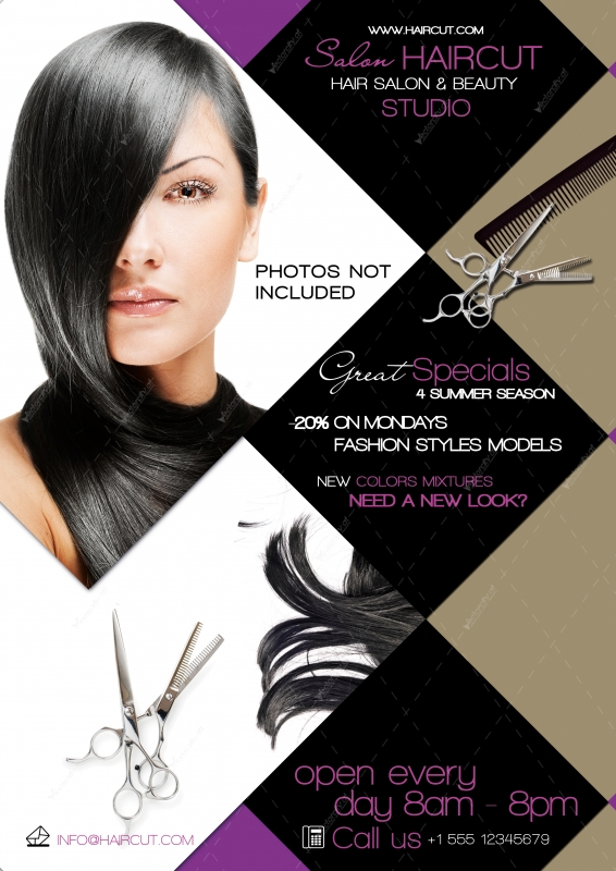 12 Hair Salon Flyer PSD Images