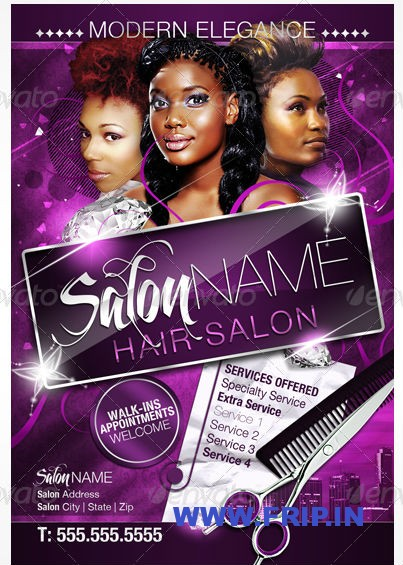 salon brochure templates free - 12 hair salon flyer psd images hair salon flyer