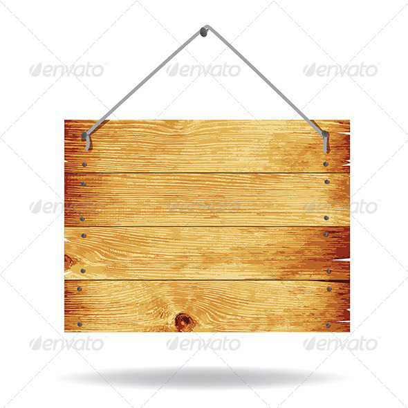 13 Wooden Post Sign PSD Images