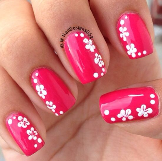 12 Hawaiian Flower Nail Designs Images