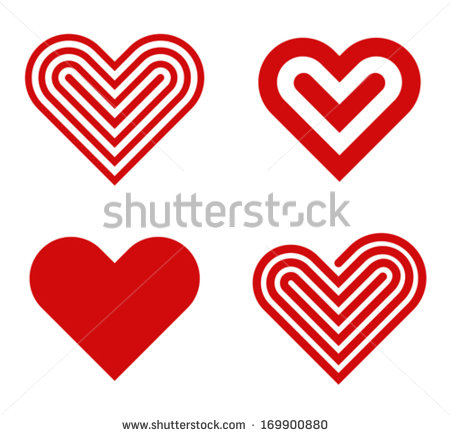 Heart Shape Template for Valentine Day