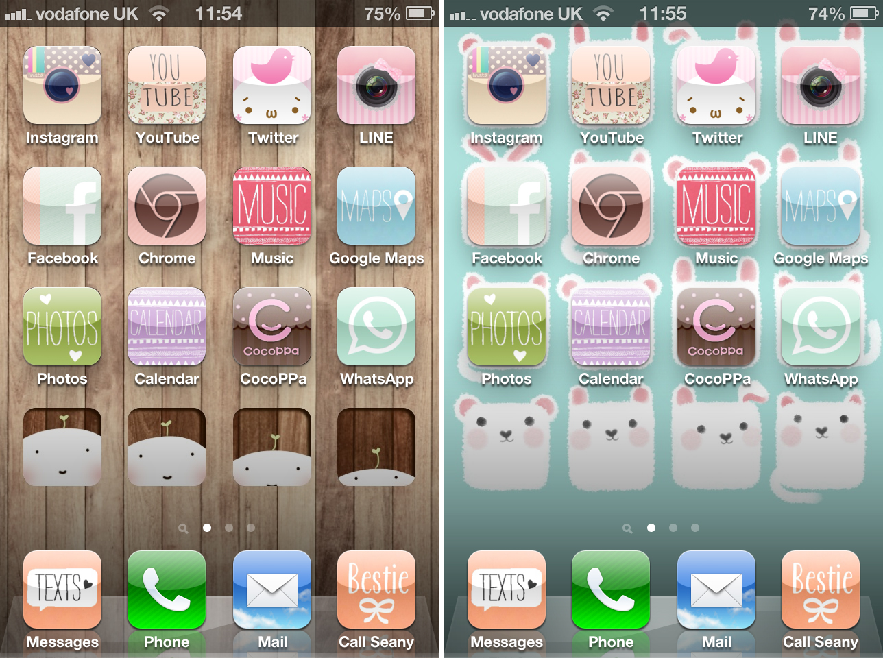 16 Cute IPhone Icons Facebook Images