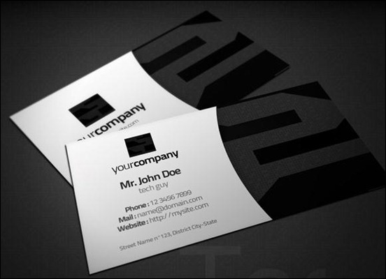 12 Free PSD Business Card Technology Images