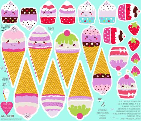 14 Templates For Play Food Images Kawaii Papercraft Template Box