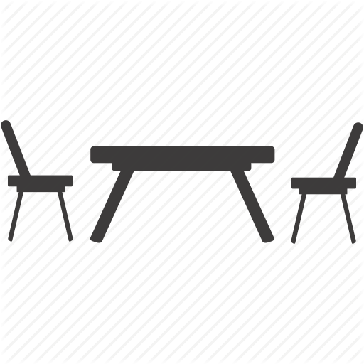 8 Table And Chairs Icon Images