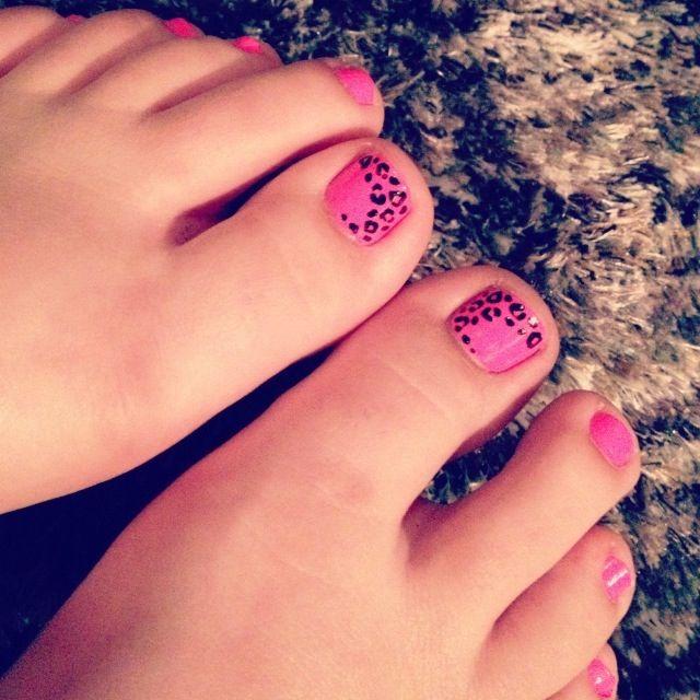 Leopard Print Toe Nails