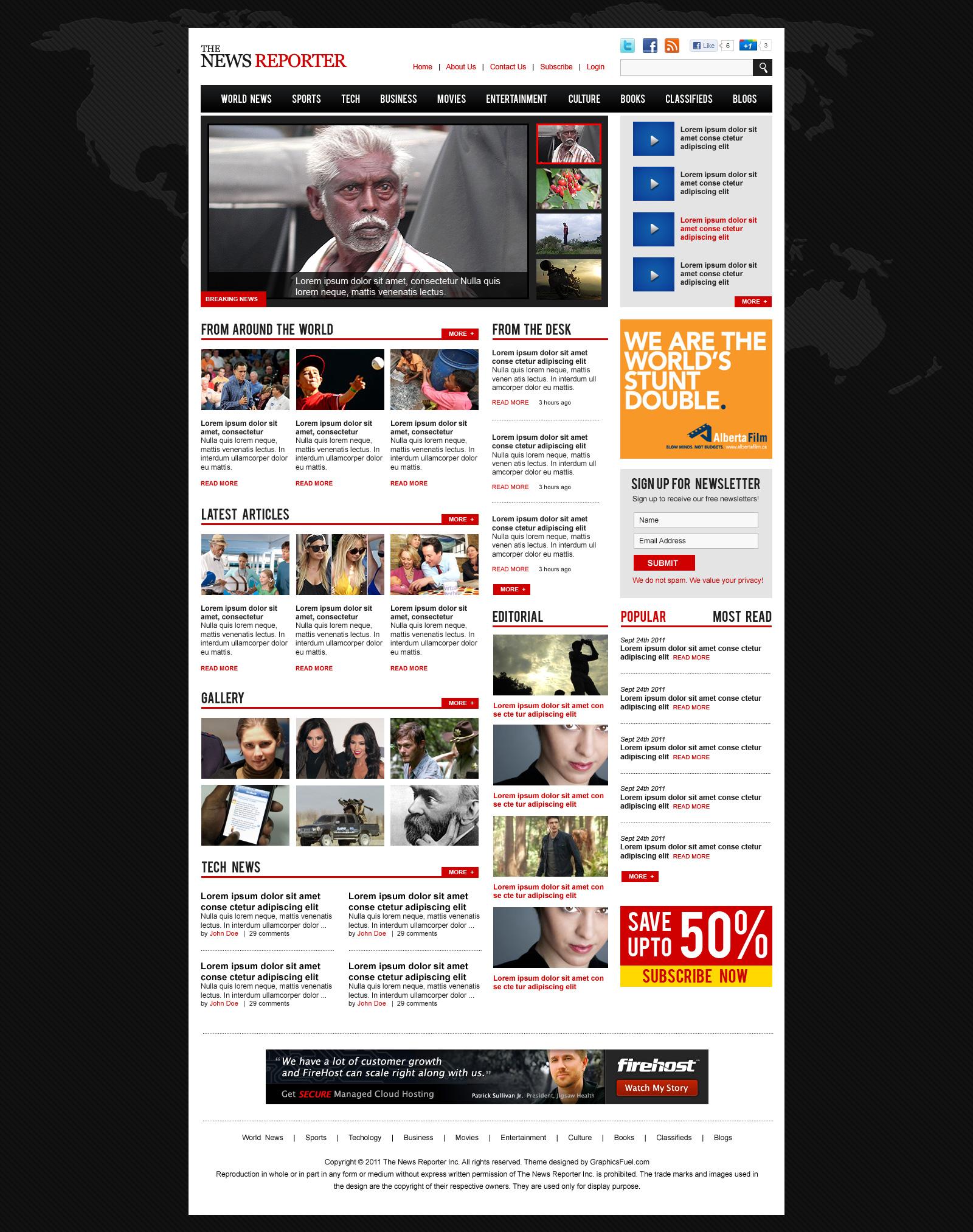 Magazine Themes WordPress Free Template