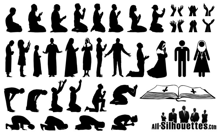 7 Woman Praying Vector Images