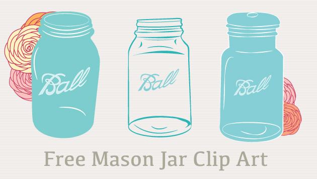 9 Mason Jar Vector Clip Art Images