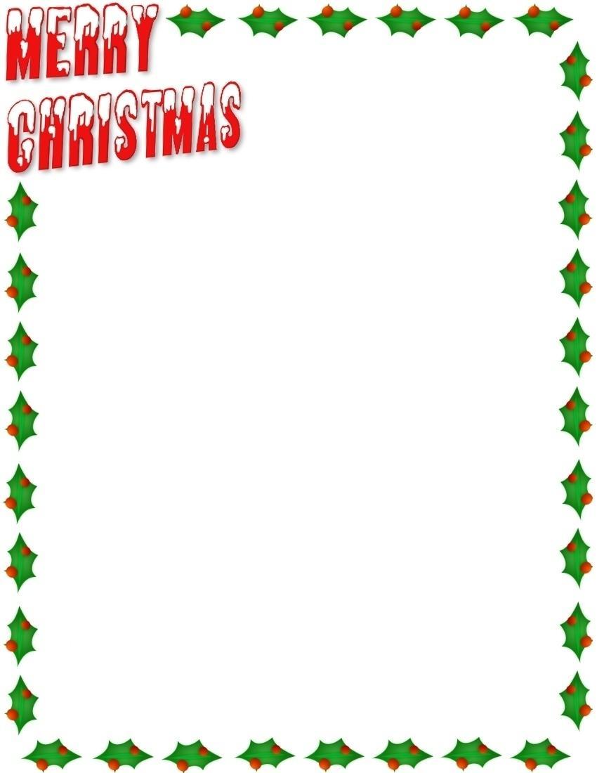 Merry Christmas Border Clip Art Free