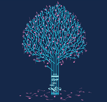 17 Tree Designs Cool Music Images