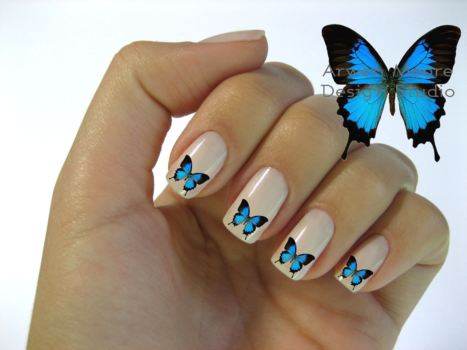 13 Butterfly Nail Art Designs Images