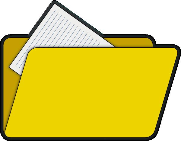 Open File Folder Clip Art